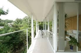 rectangular and circular modern fence balcony exterior design