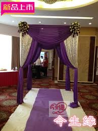 chuppah canopy wedding backdrops square canopy chuppah arbor drape with swag for