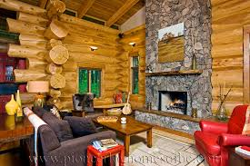 log home interiors photos log cabin style living room loft designs bc canada