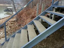 steel stairs with concrete treads norris lake caryville tn area