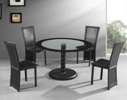 Living Room Furniture Dining Tables Black Glass Round Dining - Glass round dining room tables