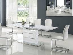 Impressive White Modern Dining Room Sets White Modern Round Dining - Dining room sets white