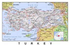 The World Political Map by Detailed Political Map Of Turkey With Relief Turkey Asia