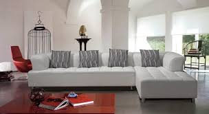 White Leather Sofa Sectional White Tufted Modern Bonded Leather Sectional Sofa Ohio 1 799 00