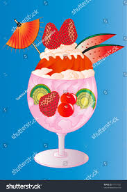 strawberry margarita cartoon ice cream fruits cream goblet on stock vector 77717152 shutterstock