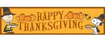 eureka peanuts classroom banner happy thanksgiving