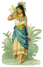 thanksgiving indian costume antique image beautiful lady in native costume the graphics fairy