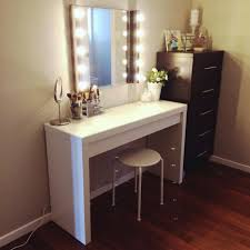 Large White Desk With Drawers Desk 110 Oak Effect Dressing Table With Drawers Vanity Benches