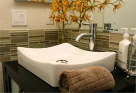 bathroom backsplash tile ideas unique glass tile backsplash in bathroom ideas 4094