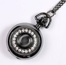 woman necklace watch images New big vintage emerald stone pocket watch green necklace woman jpg