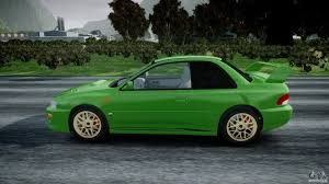 green subaru hatchback subaru impreza 22b 1998 final for gta 4