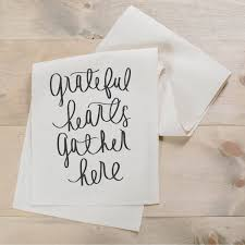 table runner grateful hearts gather home decor present