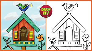 drawing a house 1 clipart etc bird house drawing at getdrawings com free for personal use bird