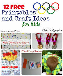 12 free printables and craft ideas for kids for the 2012 olympic