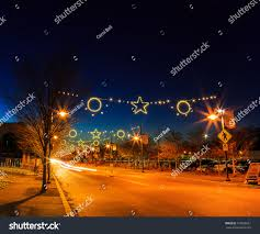 bethlehem pa christmas lights street scene night downtown bethlehem pa stock photo royalty free