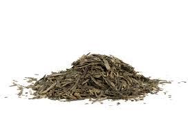 Teh Bubuk gambar alam menanam daun kering tumpukan makanan bahan