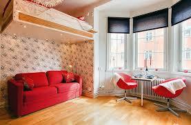 small studio apartment design ideas floating component shelves