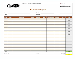 template daily record week monthly expenses report sample expense