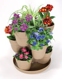 bloomers flower tower planter assorted colors at menards