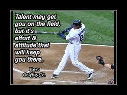 baseball motivation poster ken griffey jr mariners photo quote