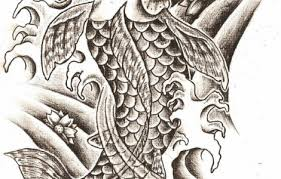 koi fish tattoos designs black and white tattoo designs gallery