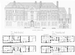 Georgian Floor Plan by Brook Street North Side British History Online Mansions