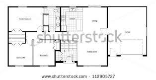 split level house floor plan room stock illustration 112905727