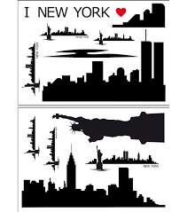 Home Decor New York by 28 Nyc Skyline Wall Decal New York City Skyline Wall Decal New