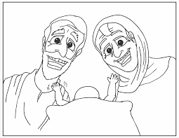 abraham and sarah coloring page inside pages eson me