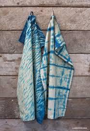 Waffle Weave Kitchen Towels Diy Indigo Dye Tea Towels Lia Griffith