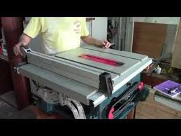 Bosch Table Saw Review by Bosch 4100 Tablesaw Maintenance Youtube
