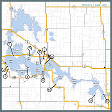 Map Of Missouri River Boating Access Devils Lake And Missouri River System North