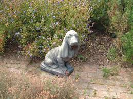 basset hound statue large garden ornament s s shop