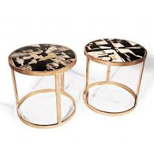 petrified wood end table hudson furniture occasional tables petrified wood end table