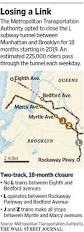 The L Train Map City Braces For Closure Of L Train Tunnel Wsj