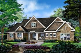 Single Story Craftsman House Plans House Plan 86121 At Familyhomeplans Com Craftsman Designs Hahnow