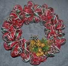 deco mesh christmas wreath tutorial donnahup com