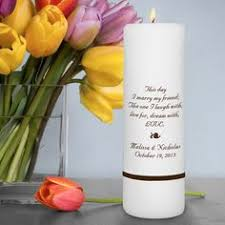 Personalize Candles Honor Love Cherish Personalized Unity Candle Wedding Unity