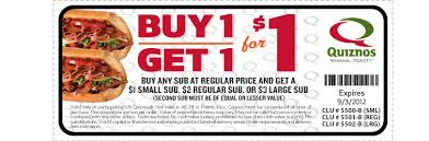 food coupons quiznos food coupons buy one small quiznos sub and get another