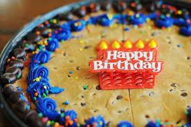 7th birthday recipe chocolate chip cookie cake dine dish