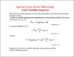summary equation of continuity for binary mixture mass balance on