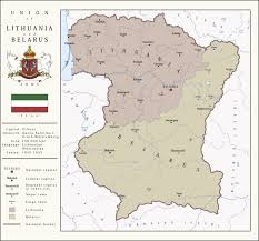 Map Of Lithuania Union Of Lithuania And Belarus By Soaringaven On Deviantart