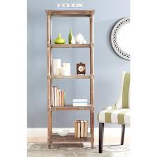 Bookcase Pine Safavieh Odessa Washed Natural Pine Open Bookcase Amh5721b The