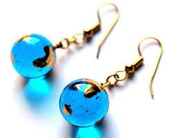 earrings world glass globe earrings etsy