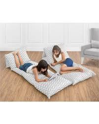 Zig Zag Floor L Deal Alert Gray White Zig Zag Floor Pillow Lounger Cover