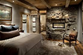 get the best rustic bedroom ideas with the best design bedroom the stone wall with fireplace in a rustic bedroom
