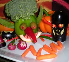 appetizer halloween scary and funny halloween fruit and veggie platter by chef bryan