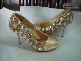 wedding shoes gold color gold color flash diamond wedding shoes bridal shoes bridesmaid