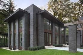modern brick house black diamond brick modern house exterior house pinterest