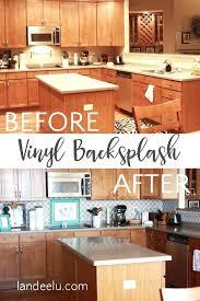 Vinyl Kitchen Backsplash Vinyl Backsplash And Stick Tile Reviews Vinyl Floor Tiles Self